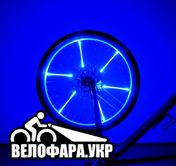 Желтая подсветка на колеса велосипеда