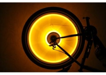 Оранжевая подсветка для колес велосипеда