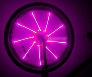 Диодная подсветка на колесо велосипеда