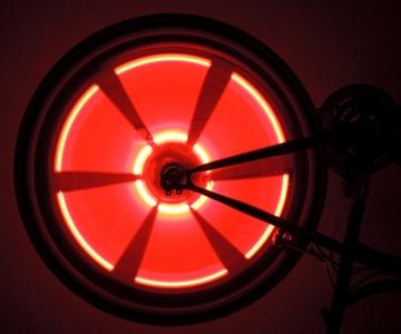 Красная велоподсветка